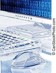 Elegant Icy Look computer - Icy looking computer setup