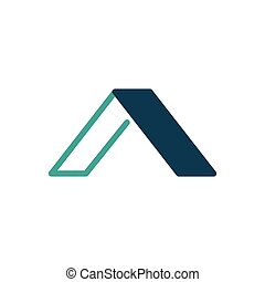 Elegant Initial letter A logo linear and flat design template, vector illustration isolated on white background.