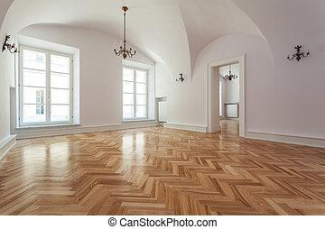 Elegant interior - Empty interior in an elegant nad new...