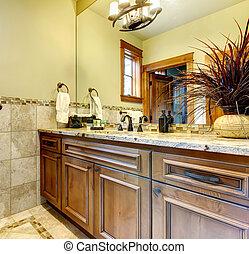 Elegant interior of luxury bathroom.