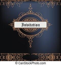 Elegant invitation card in luxury vintage style