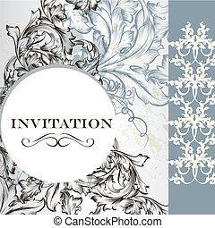 Elegant invitation card in vintage  style