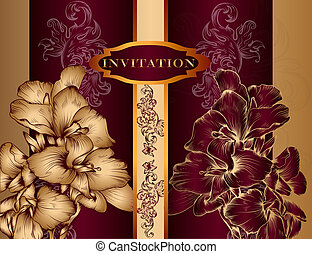 Elegant invitation design in royal style