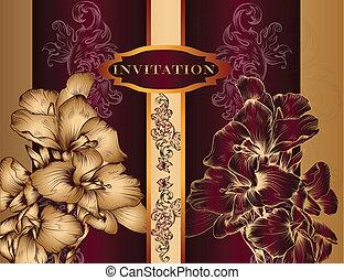 Elegant invitation design in royal