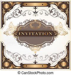 Elegant invitation vector card