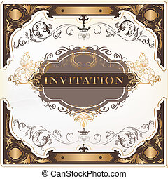 Elegant invitation vector card