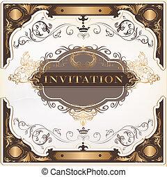 Elegant invitation vector card for design - Elegant classic...