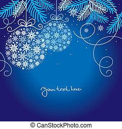 elegant, kerstmis, achtergrond