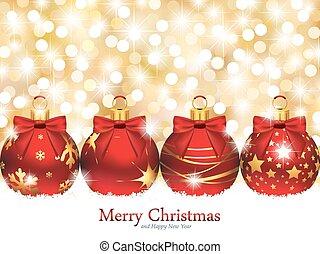 elegant, kerstmis, ontwerp