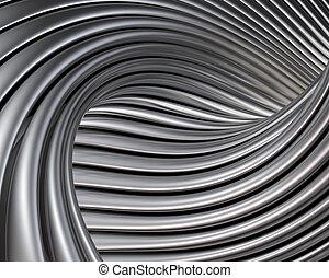 elegant, kurven, hintergrund, metallisch