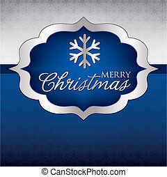Elegant Label Christmas card in vector format.