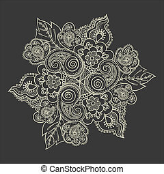 Elegant lace pattern-model for design of gift packs,...