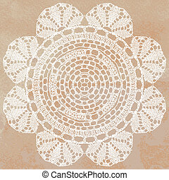 Elegant lacy doily - Vector template. Invitation card.