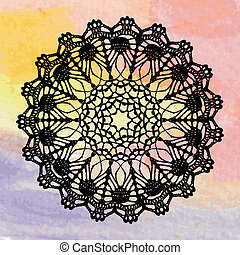 Elegant lacy doily. Crochet mandala. - Vector template....