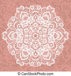 Elegant lacy doily. Vector snowflake. - Vector template....