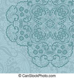 Elegant lacy doily