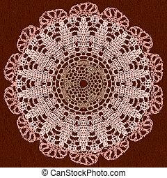 Elegant lacy doily.