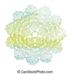 Elegant lacy watercolor doily. - Vector template. Invitation...