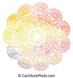 Elegant lacy watercolor doily.