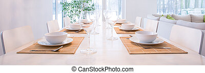 Elegant laid table