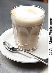 Elegant latte coffee - Elegant glass of luxury caffe latte ...