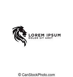elegant, leeuw, ontwerp, mal, logo