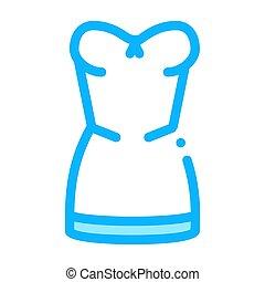 Elegant Lingerie Icon Vector Outline Illustration
