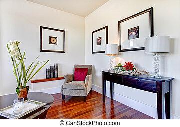 Elegant living room design - Great combination of light tone...