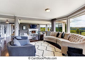 Elegant living room interior in luxury house
