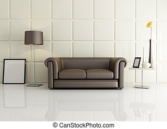 elegant living room - living room with classic sofa against...