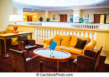 Elegant lobby hall
