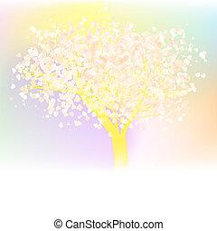 Elegant Love tree. EPS 8