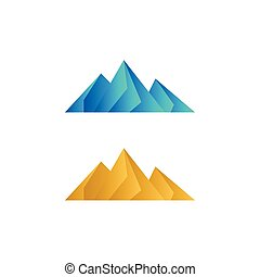 Elegant low poly mountain vector
