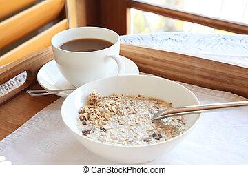 Elegant luxury breakfast