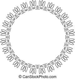 Elegant luxury retro floral frame. Design template for banner, card, invitation, label, emblem etc.