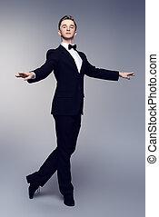 elegant male dancer