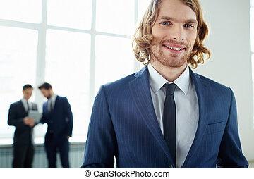Elegant male leader