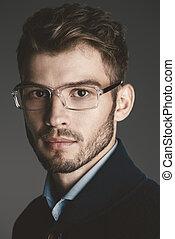 businessman in spectacles - Elegant man in glasses. Optics...