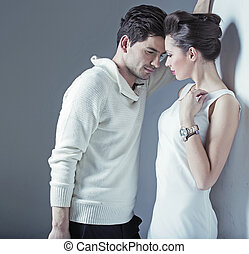 Elegant man trying to seduce a woman - Elegant guy trying to...