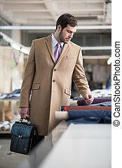 elegant man with briefcase