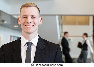 Elegant man working in corporation