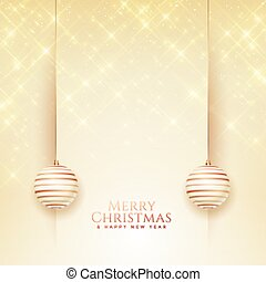 elegant merry christmas greeting with text space