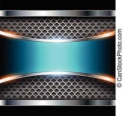 Elegant metallic background blue shiny metallic