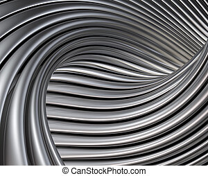 Elegant metallic curves background. Luxury brushed metal ...