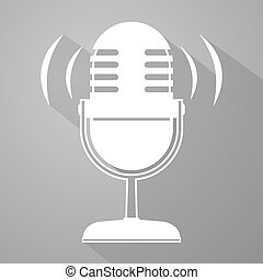 elegant microphone symbol