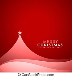 elegant minimal christmas tree design red background