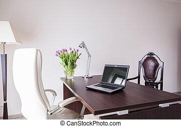 elegant, moderne, kantoor