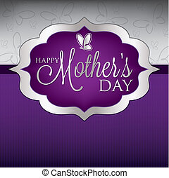 Elegant Mother's Day card in vector format.