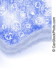 Elegant new year and cristmas card template. EPS 8 vector file included