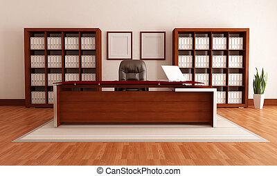 elegant, nymodig, kontor